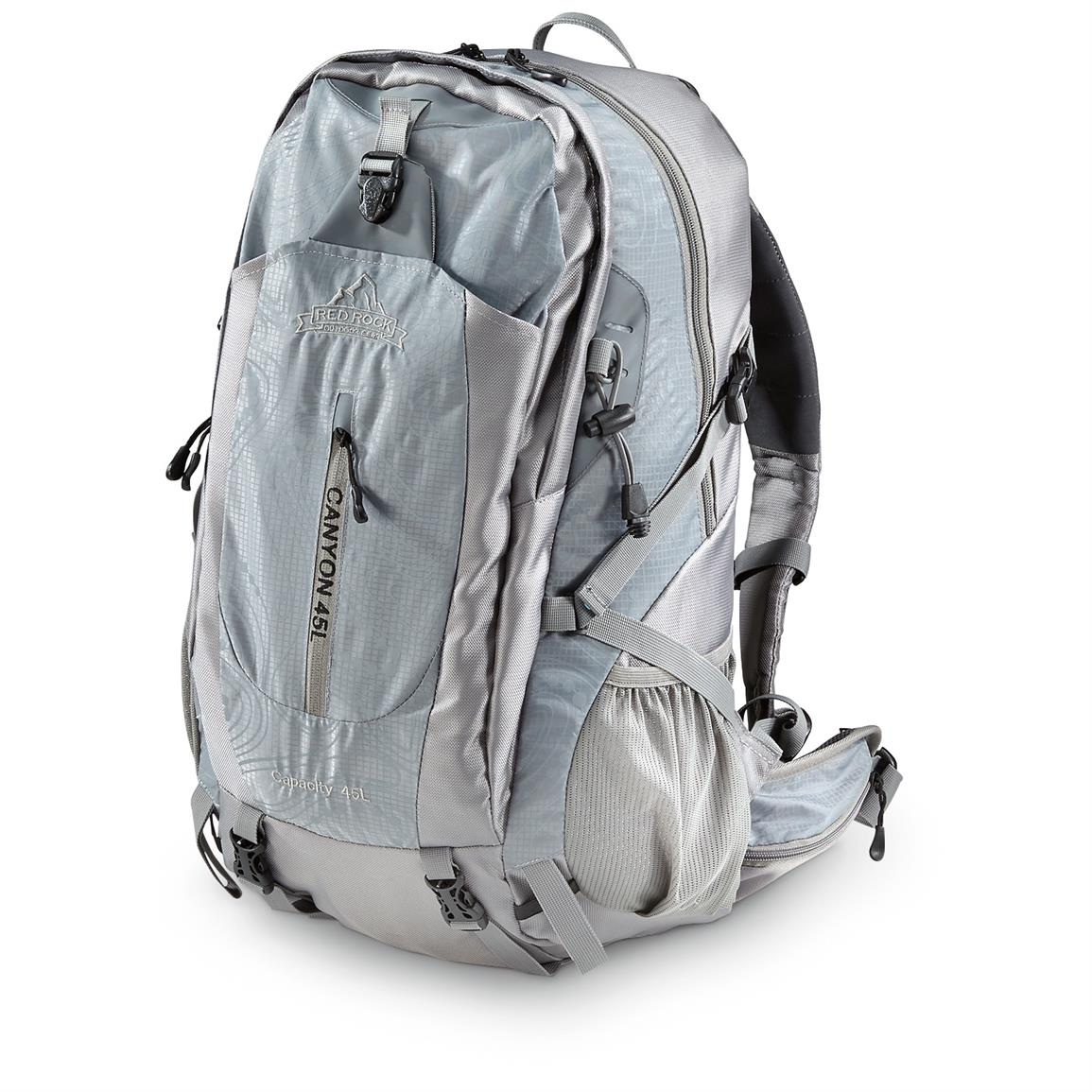 Red Rock Canyon Day Pack, 45 Liter, Gray