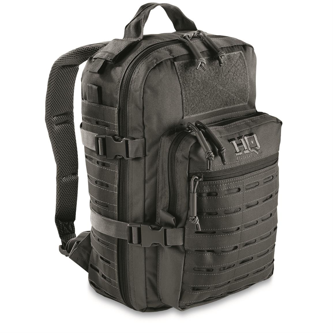 HQ ISSUE Reverse MOLLE Day Pack, Black