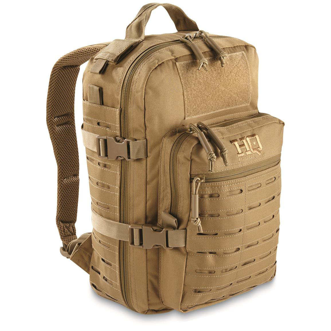 HQ ISSUE Reverse MOLLE Day Pack, Coyote Tan