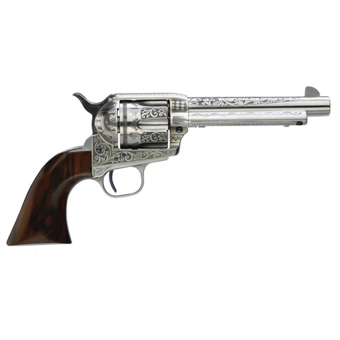 "Taylor's & Co. Uberti 1873 Cattleman Photo Engraved, Revolver, .357 Magnum, 703AWE, 4.75"" Barrel"