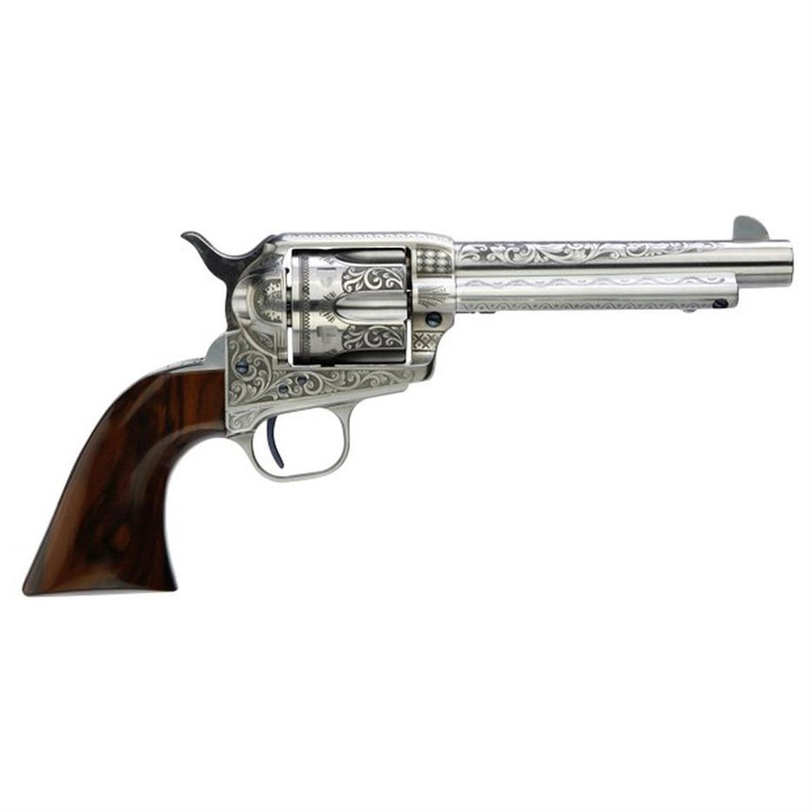 "Taylor's & Co. Uberti 1873 Cattleman Photo Engraved, Revolver, .357 Magnum, 704AWE, 5.5"" Barrel"