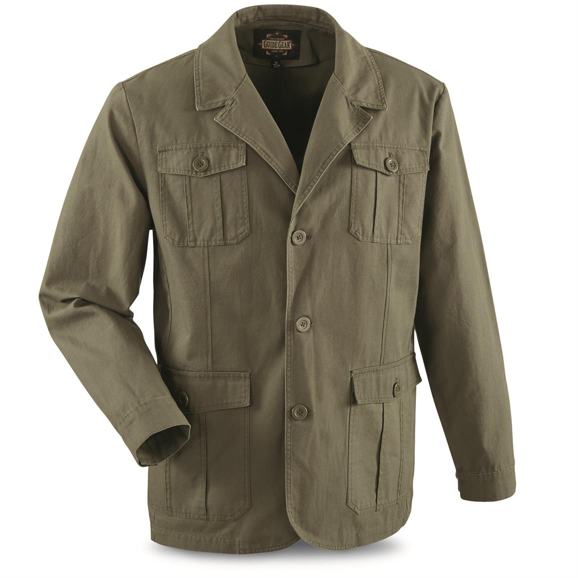 Guide Gear Men's Sportsman's Field Jacket, Olive