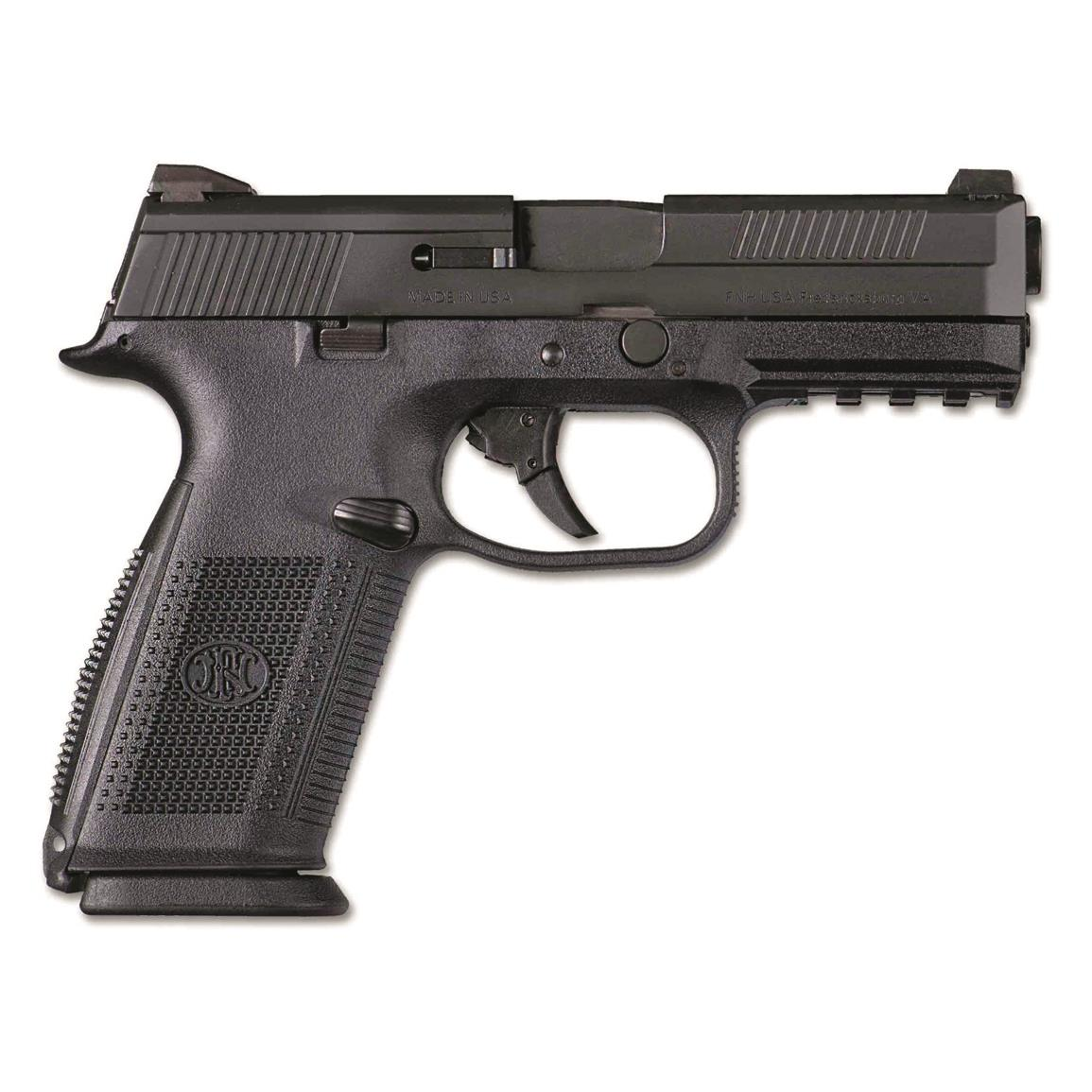 "FN FNS-40, Semi-Automatic, .40 S&W, 4"" Barrel, 3-Dot Night Sights, 10+1 Rounds"