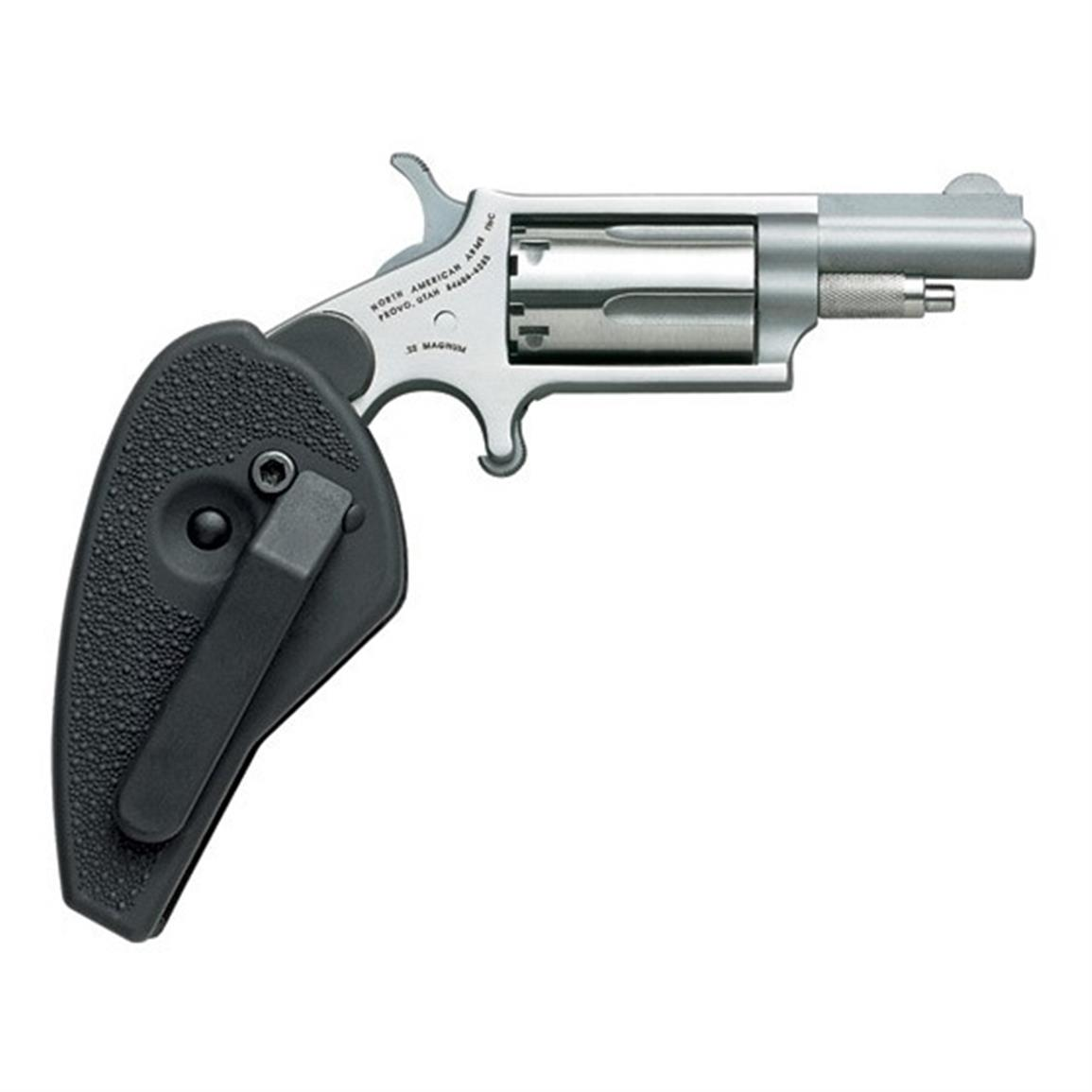 "NAA Holster Grip with Conversion Cylinder, Revolver, .22 Magnum, Rimfire, 1.625"" Barrel, 5 Rounds"