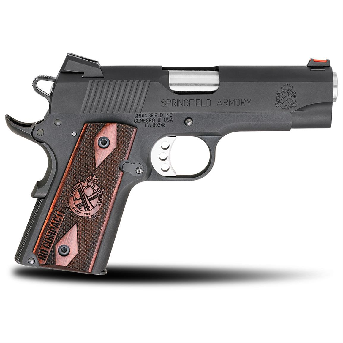 Springfield 1911 Range Officer Compact, Semi-automatic, .45 ACP, PI9126LP, 706397897222