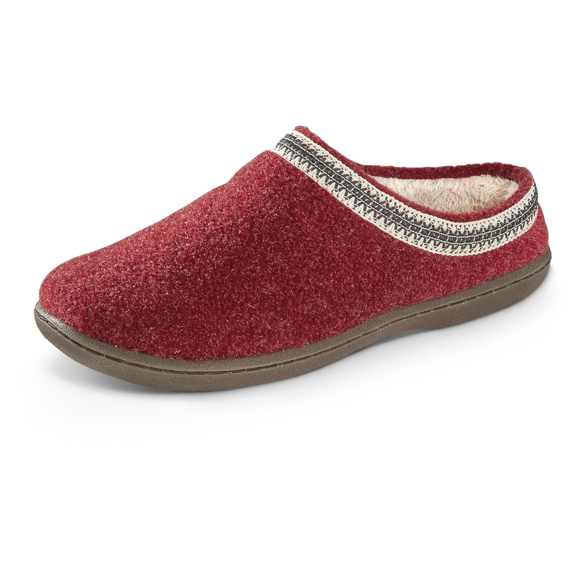 Guide Gear Women's Wool Clogs, Burgundy