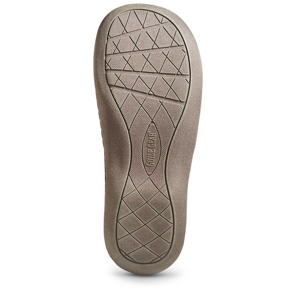 Hard outsole is indoor / outdoor friendly