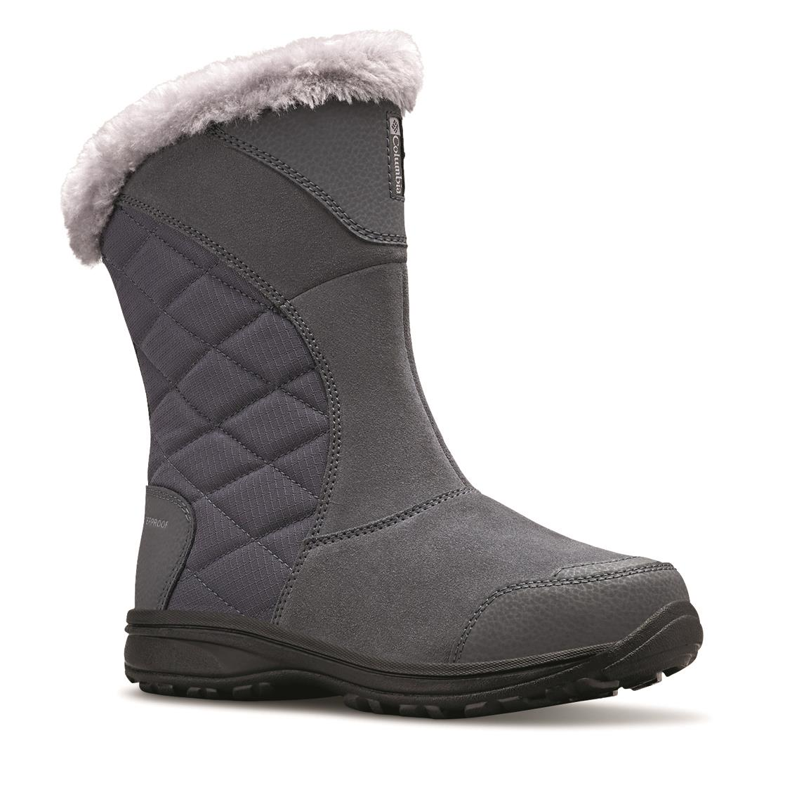 Columbia Women's  Ice Maiden II Slip-On Waterproof Boots, Graphite