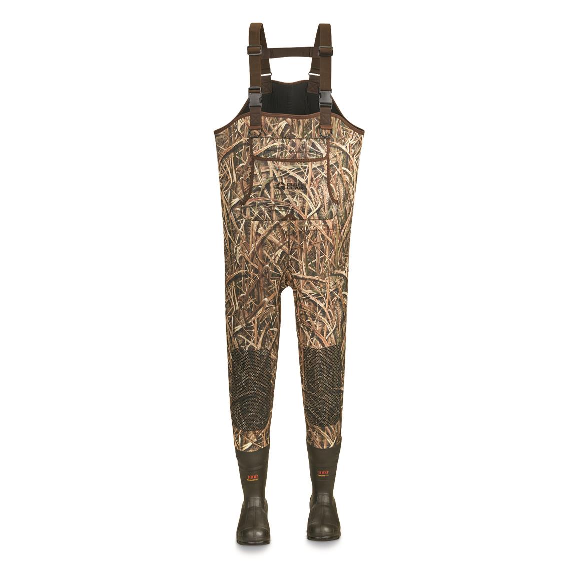 Guide Gear Men's Insulated Hunting Chest Waders, 1,000-gram, Mossy Oak Shadow Grass® Blades™