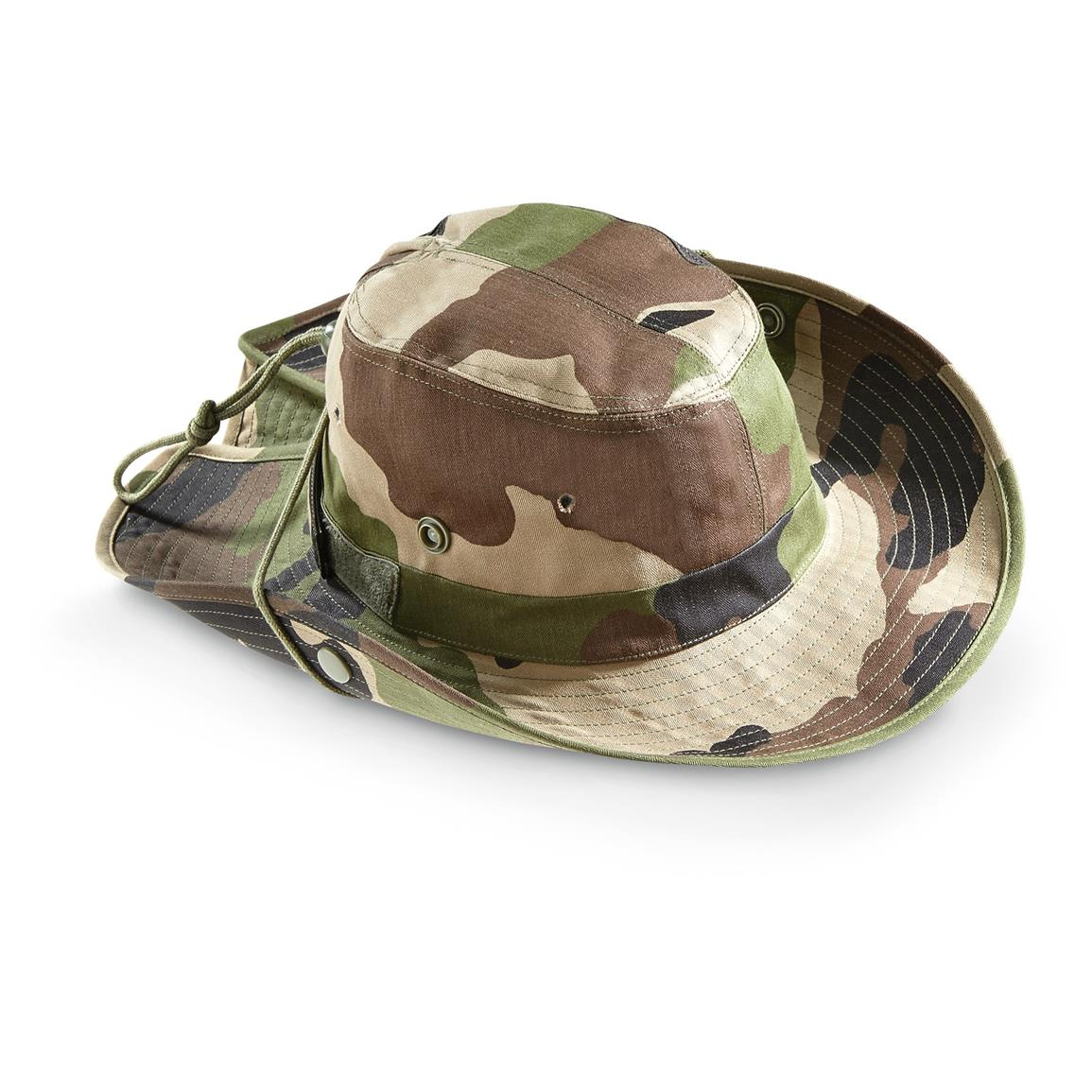 New French Military Issue Adjustable Camo Bush Hat