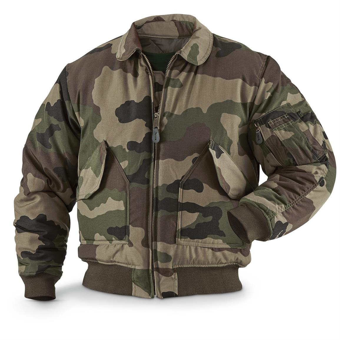 Mil-Tec Camo Flight Jacket, CCE Camo - 643240, Tactical Clothing ...