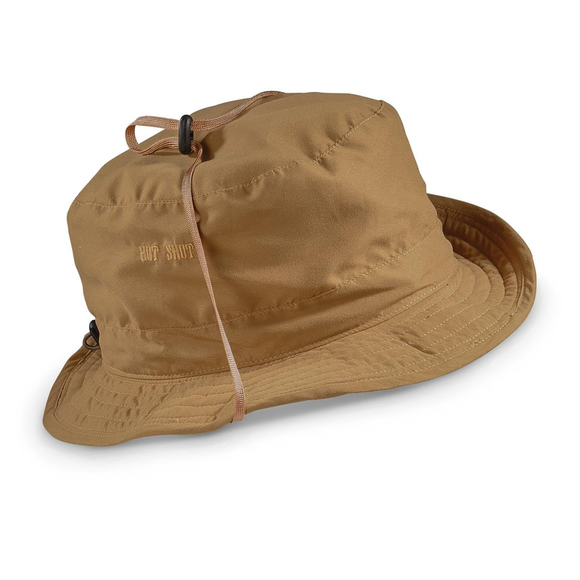 Hot Shot Men's Drawstring Ranger Safari Hat, Brown