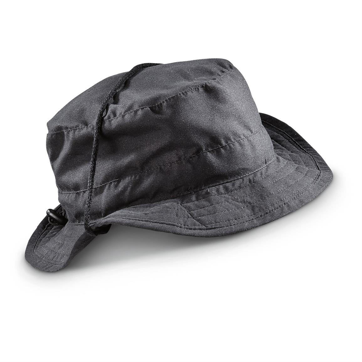 Hot Shot Men's Drawstring Ranger Safari Hat, Black