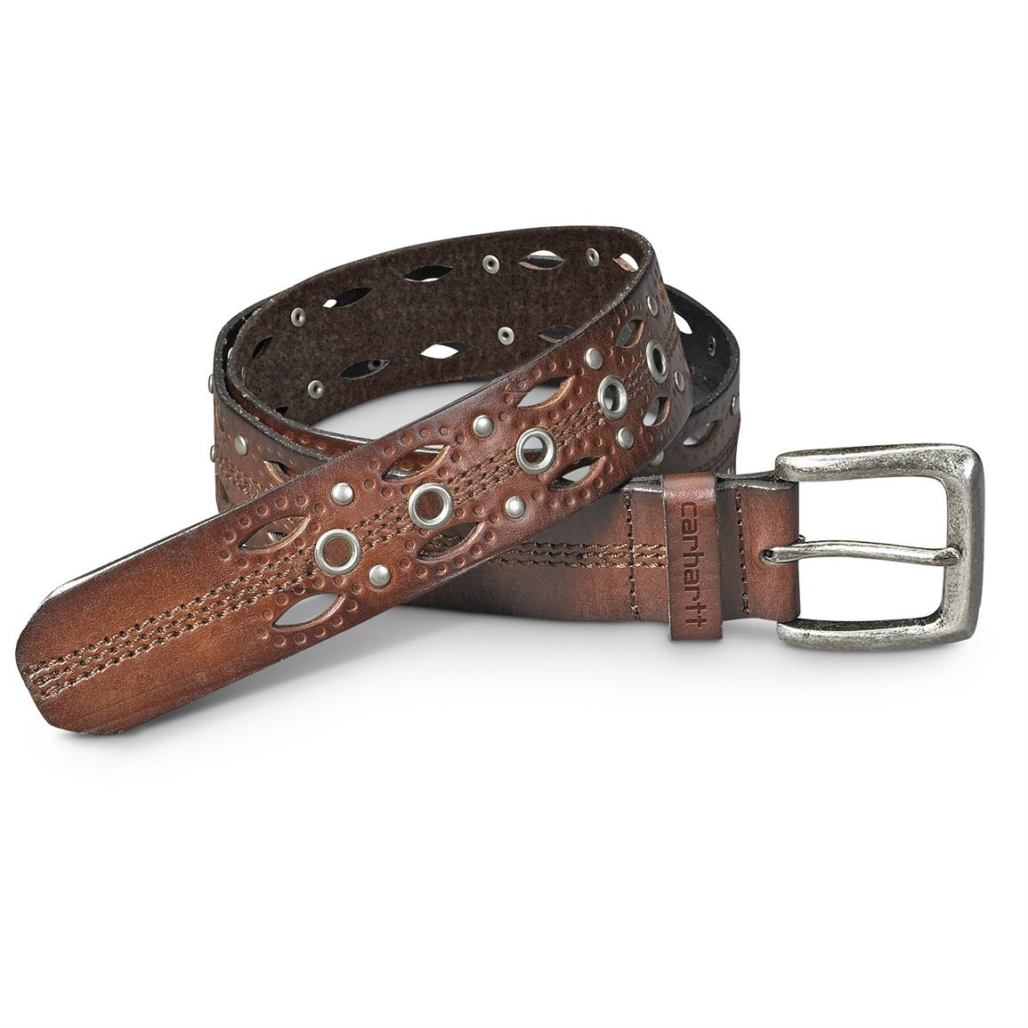 Women's Carhartt® Dearborn Studded Belt, Brown