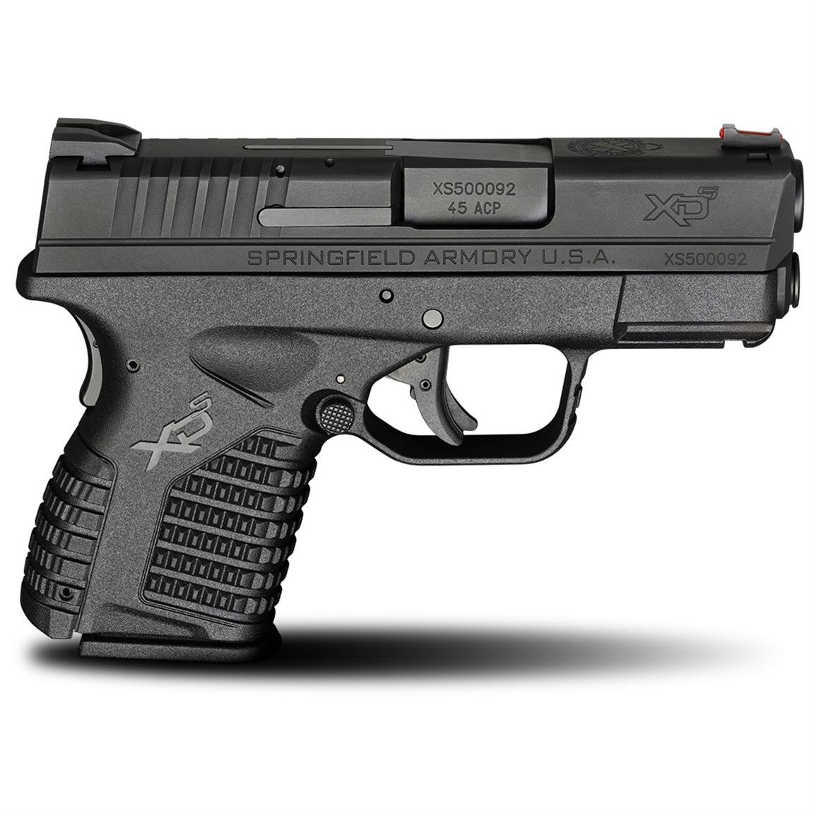 "Springfield XD-S, Semi-Automatic, .45 ACP, 3.3"" Barrel, 5+1/6+1 Rounds"