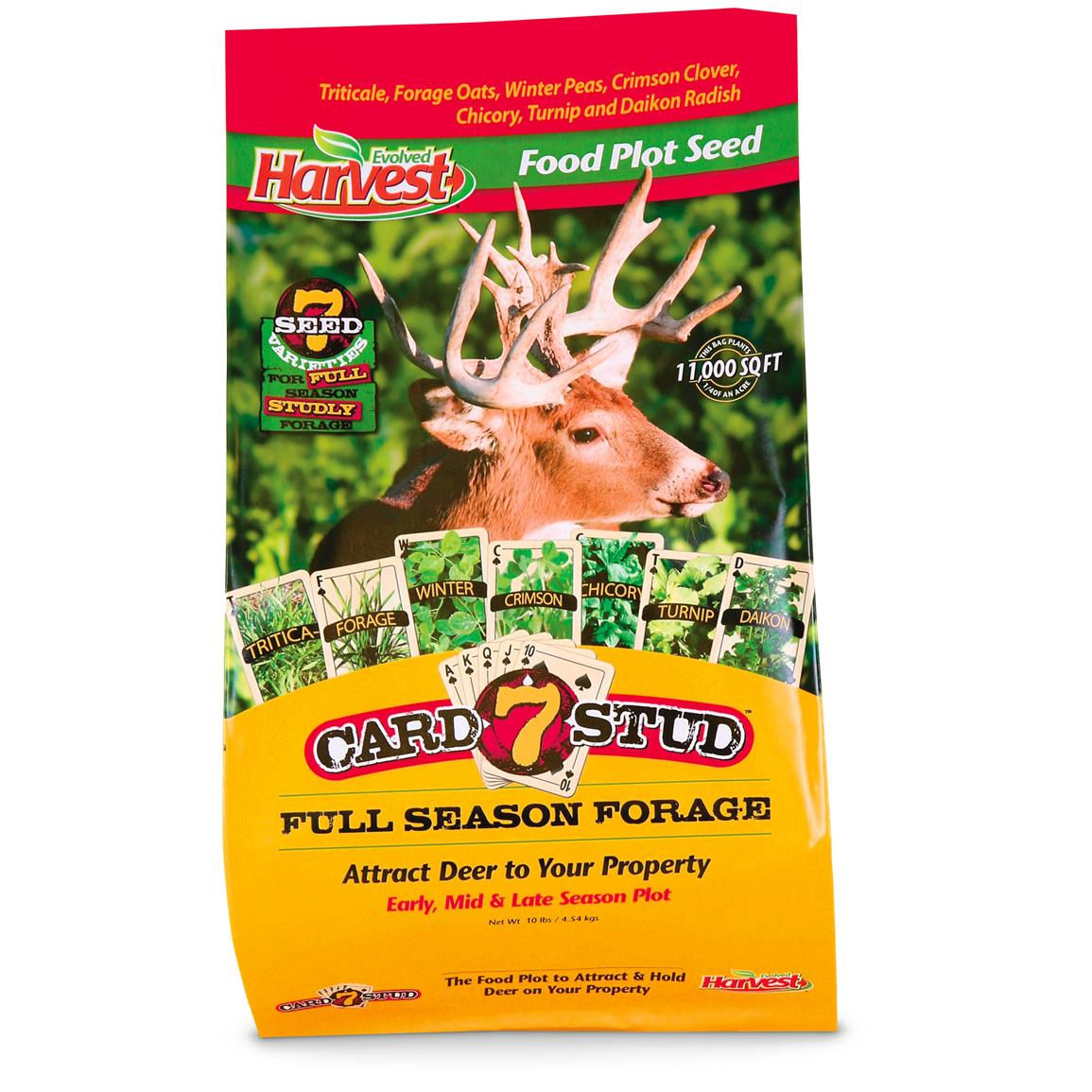 Blended with carefully selected forage plants chosen for hardiness, ease of growth and attracting power