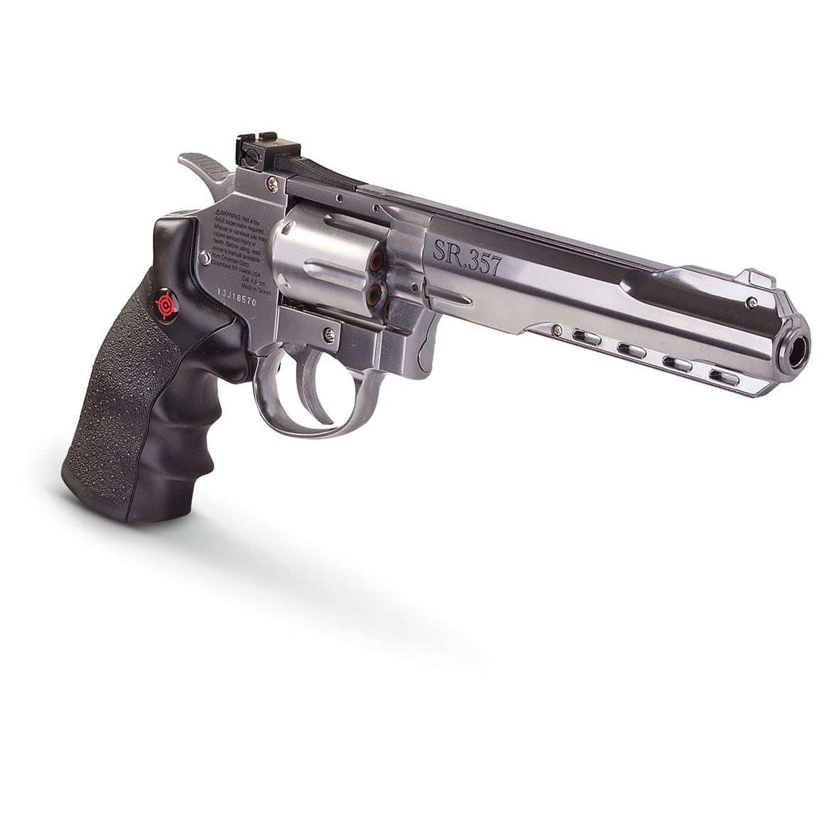 Crosman SR357 CO2 BB Pistol, Silver