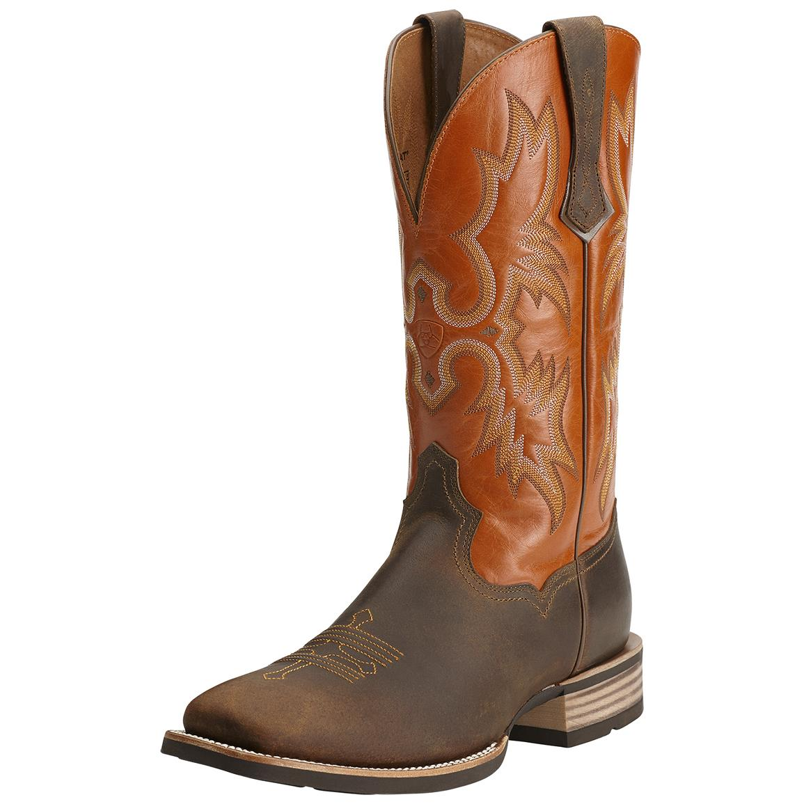 Ariat Tombstone Western Boots, Distressed Brown