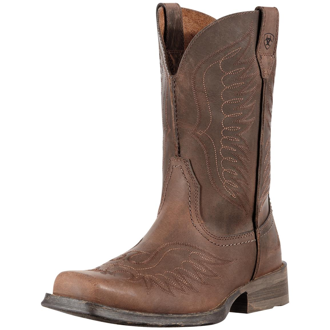 Ariat Rambler Phoenix Western Boots, Distressed Brown
