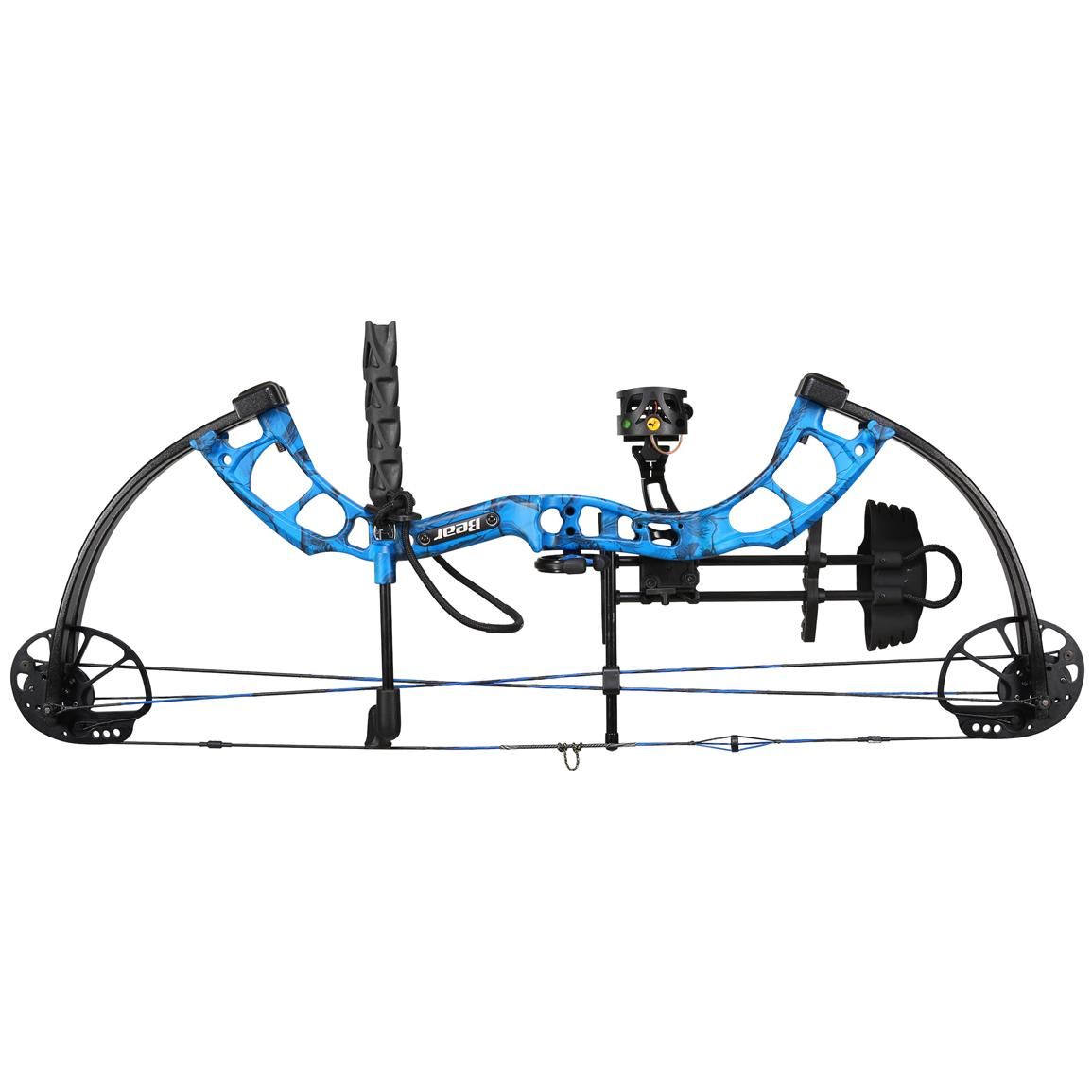 Bear Archery Cruzer Ready to Hunt Compound Bow, Realtree AP Blue