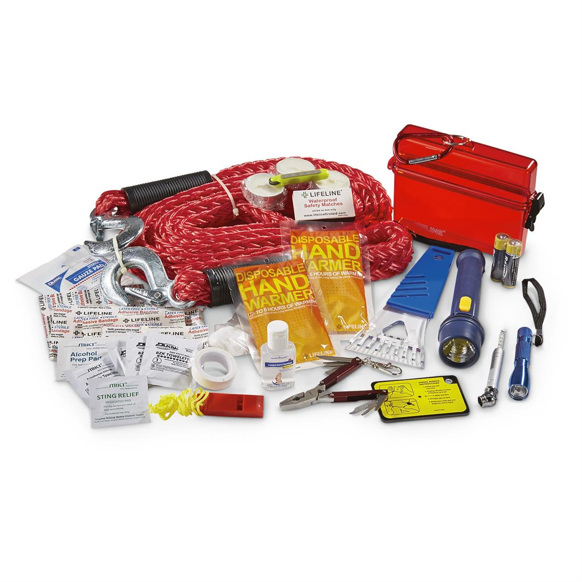 33-Pc. Vehicle Emergency Kit