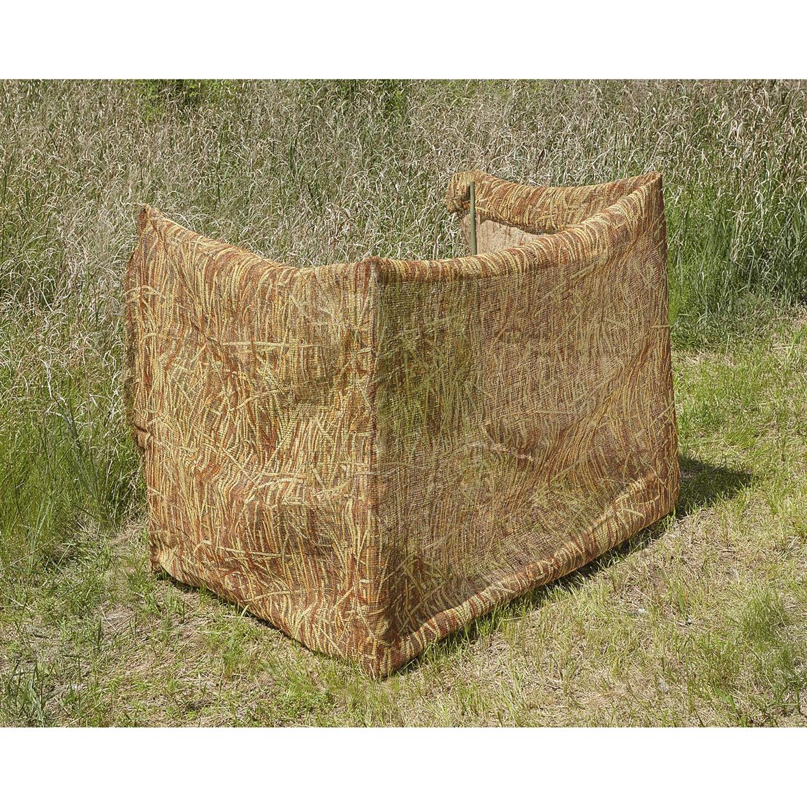 Tall Grass Camo Burlap Blind 647359 Garage Amp Tool