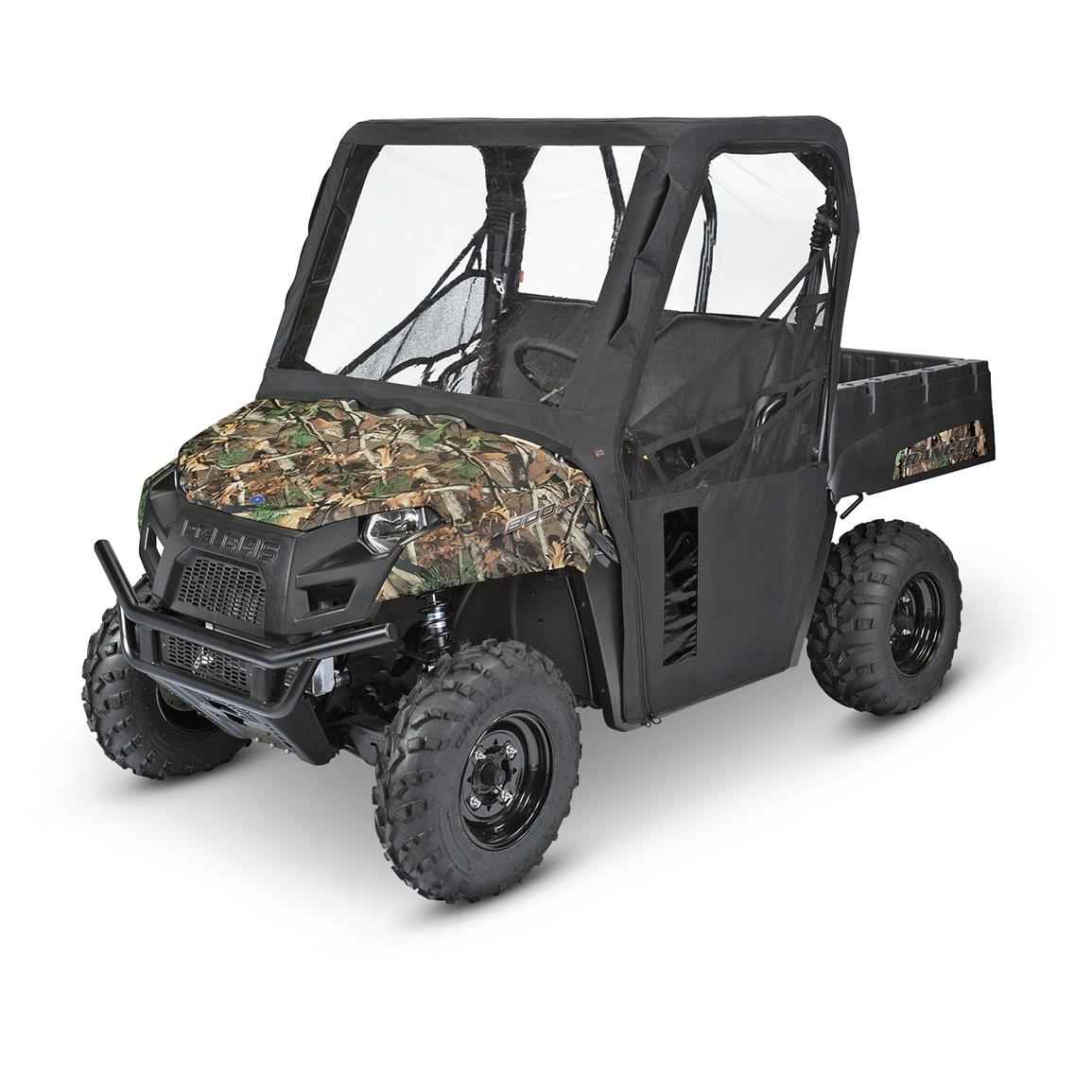 Quad Gear UTV Cab Enclosure, Kawasaki Mule 4000 Series, Black
