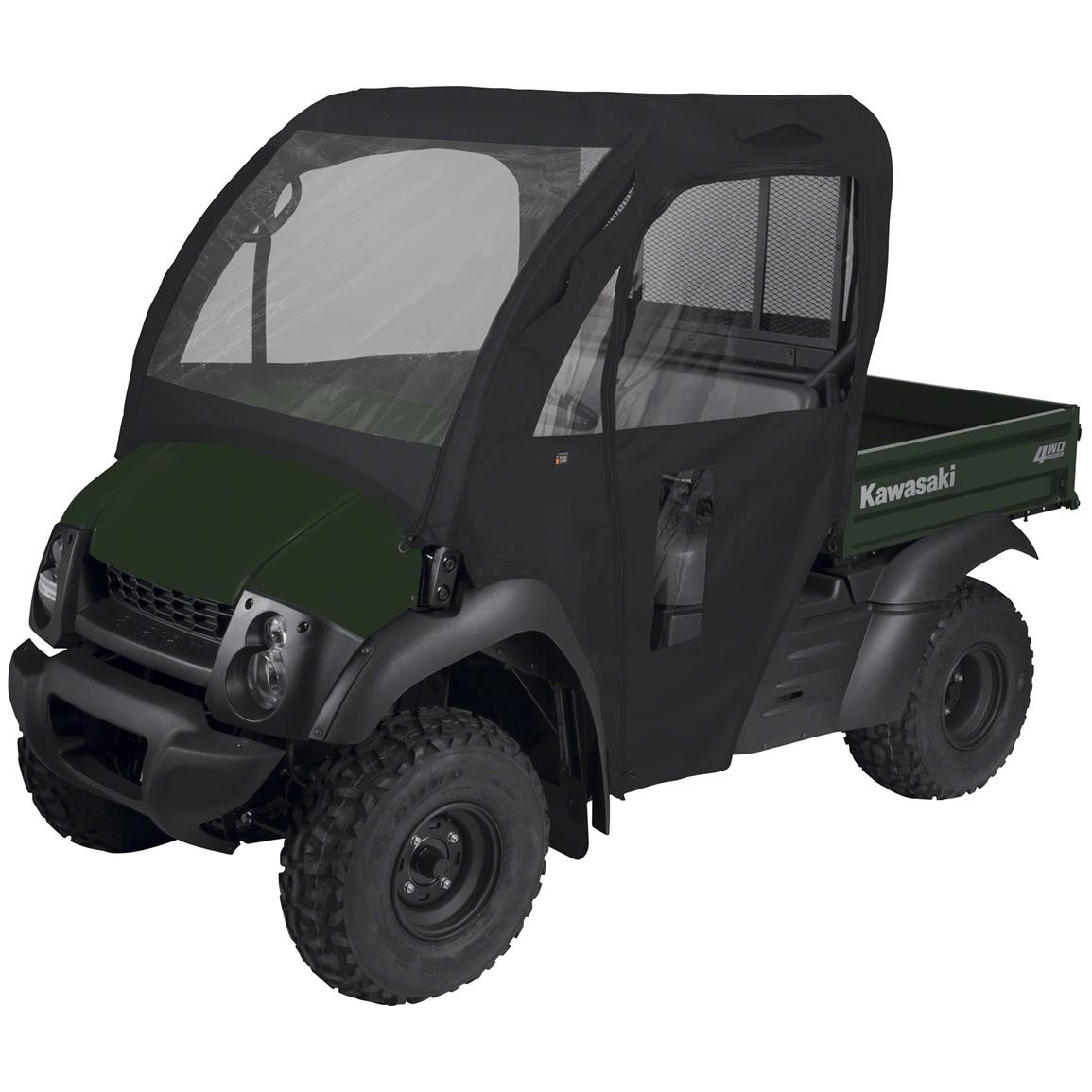 Quad Gear UTV Cab Enclosure, Kawasaki Mule 600 Series, Black
