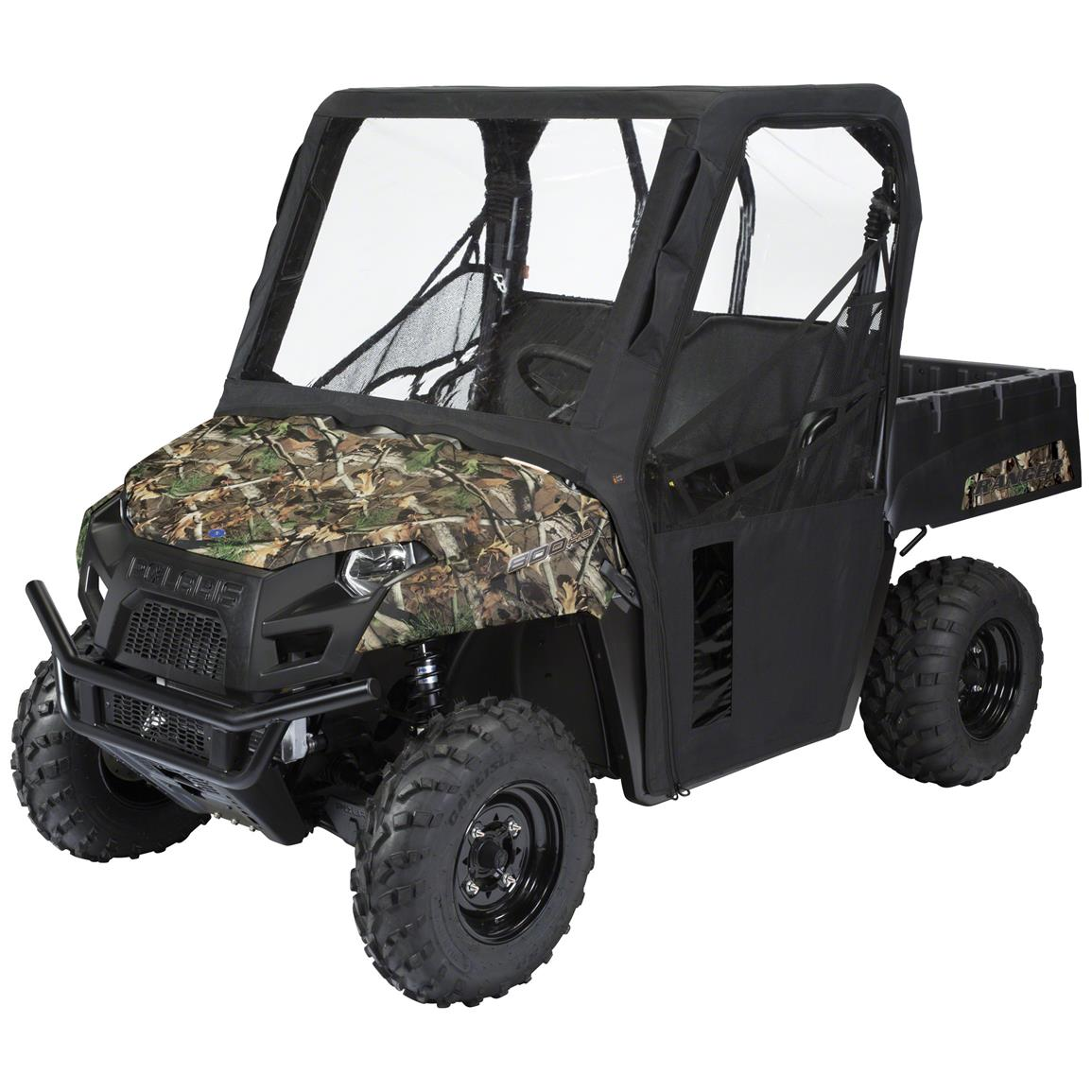 Quad Gear UTV Cab Enclosure, Polaris Ranger Mid-Size 400, 500, 800 Series, Black
