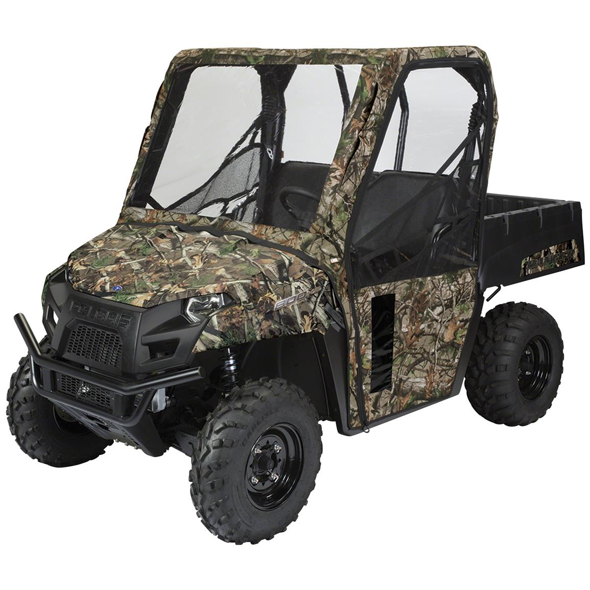 Quad Gear UTV Cab Enclosure, Polaris Ranger Mid-Size 400, 500, 800 Series, Next Camo