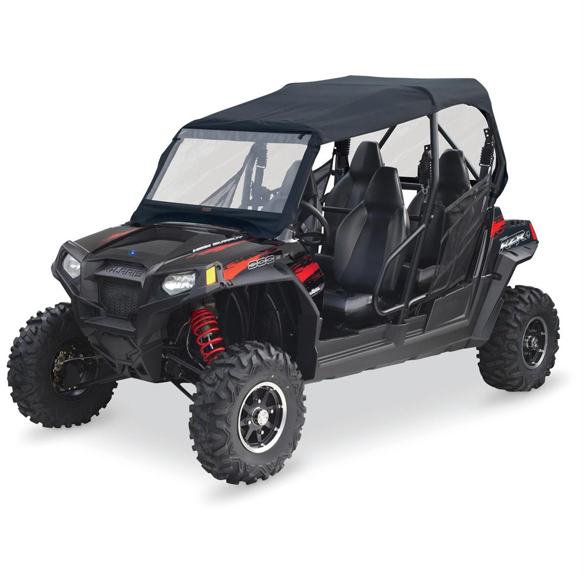 Quad Gear UTV Roll Cage Top with Windshield, Polaris RZR 4-Seat Models