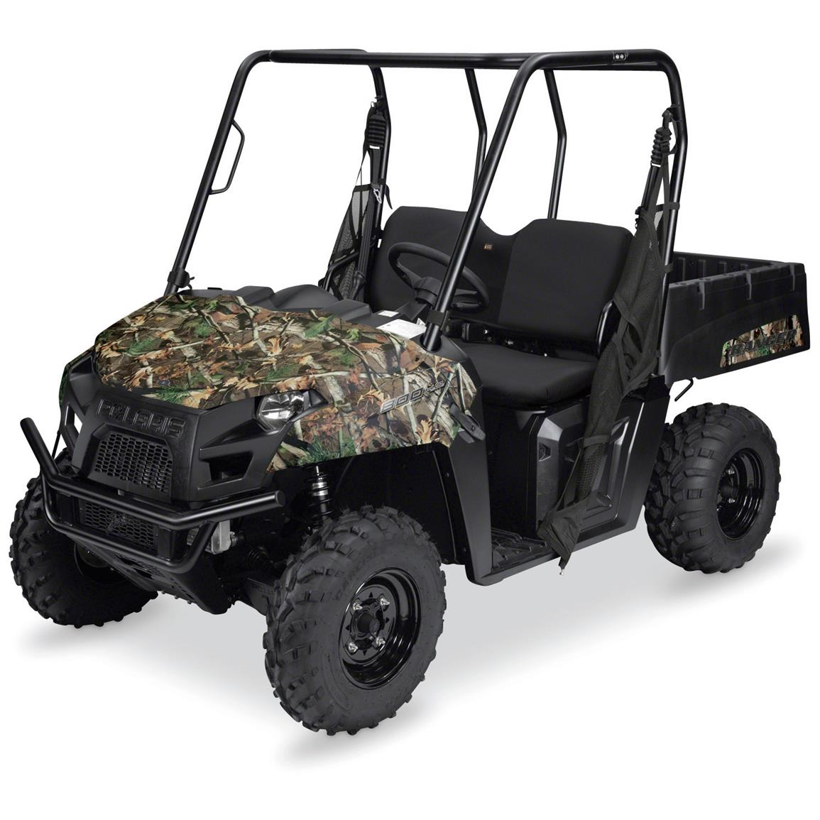Quad Gear UTV Bench Seat Cover, Polaris Ranger Mid-Size 400, 500 and 800 Series, Black