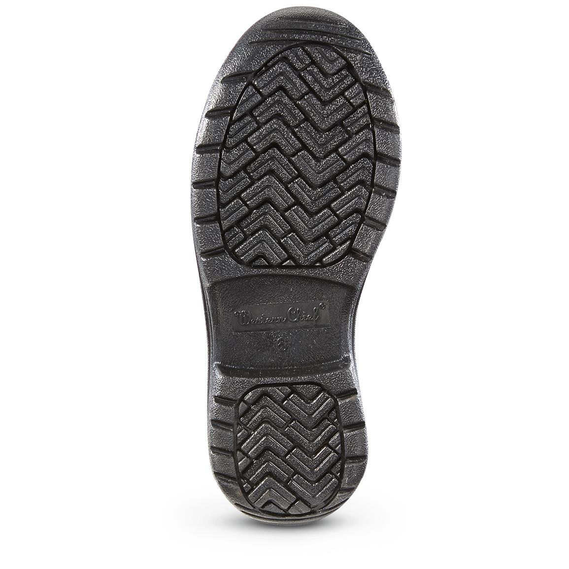 Specialized treads and concave outsole design for traction on wet surfaces