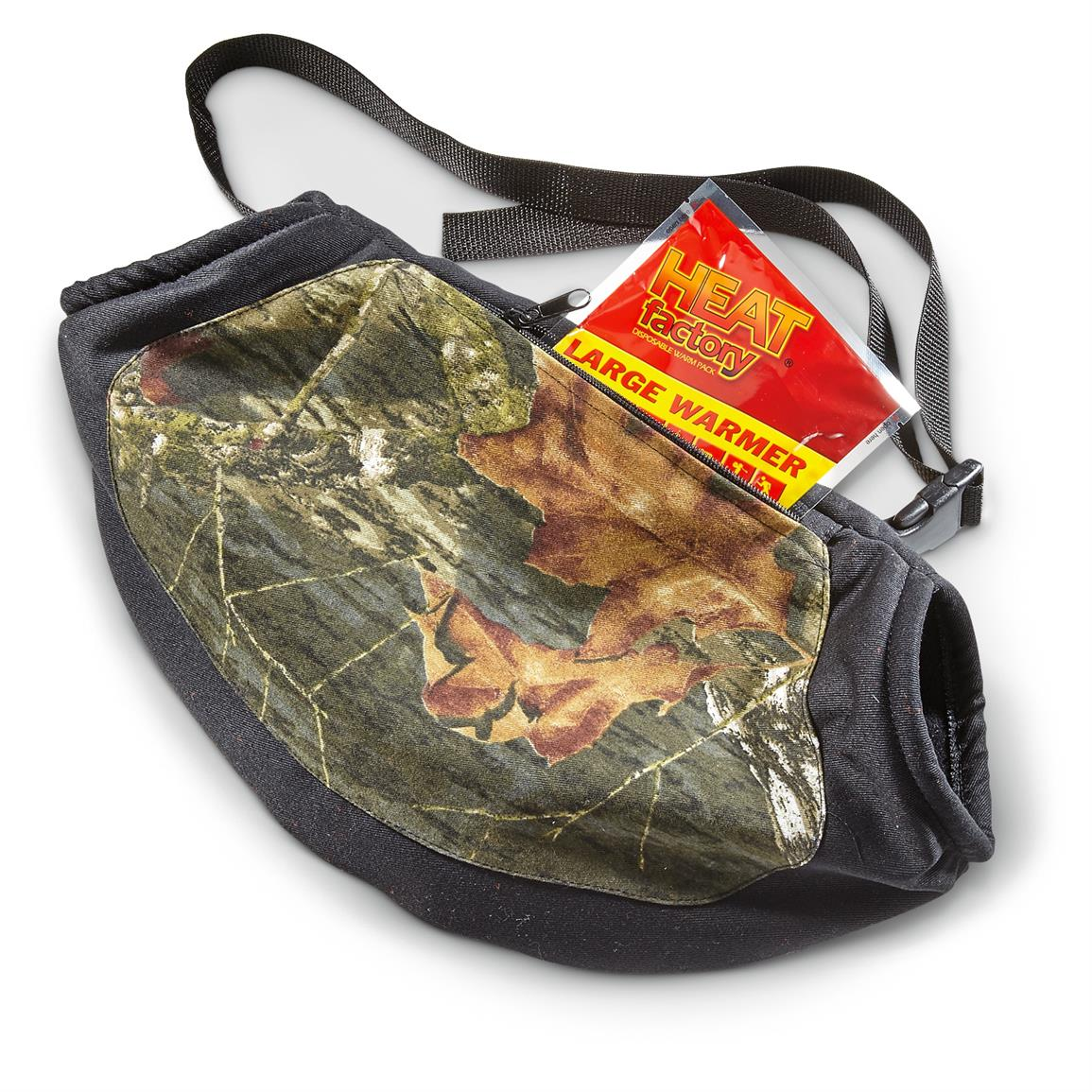 Front zipper pocket for extra gear, or adding a warming packet