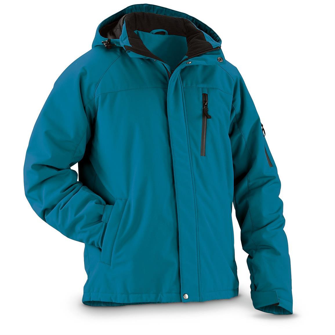 Guide Gear Men's Siberian Jacket, Sea Blue