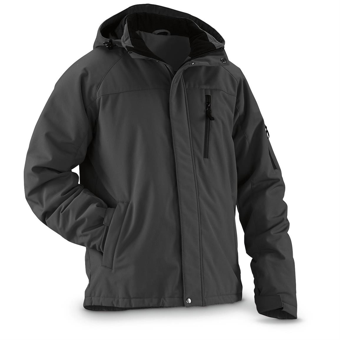 Guide Gear Men's Siberian Jacket, Onyx