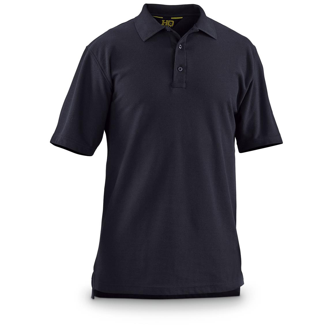 HQ ISSUE Men's Short-Sleeve Tactical Polo Shirt, Navy
