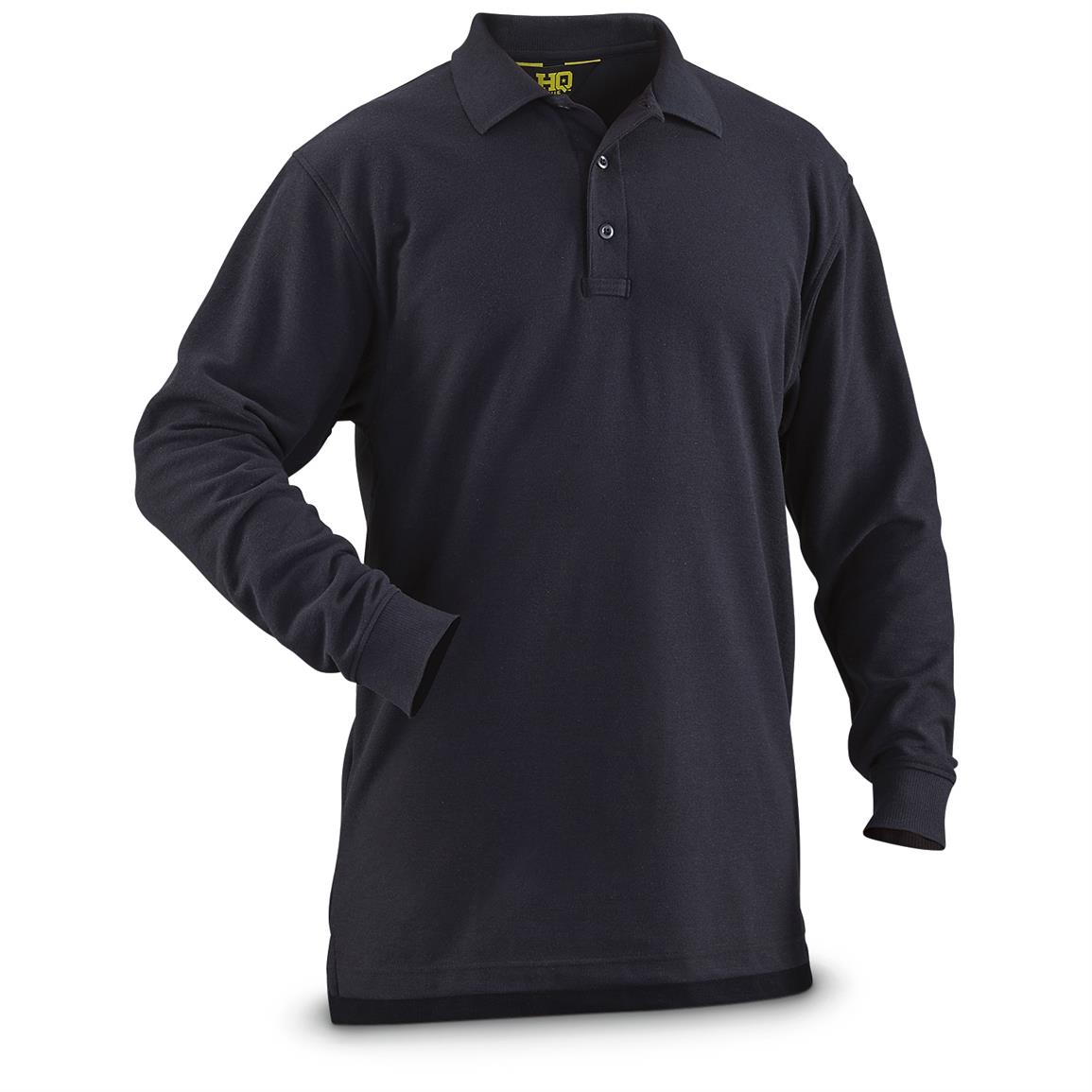 HQ ISSUE Men's Long-Sleeve Tactical Polo Shirt, Navy
