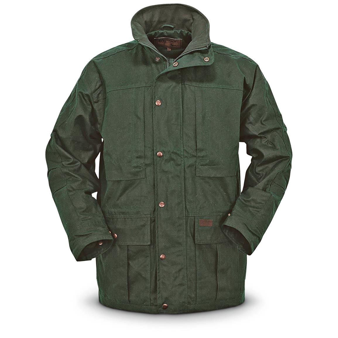 Outback Trading Deer Hunter Waterproof Oilskin Jacket, Green