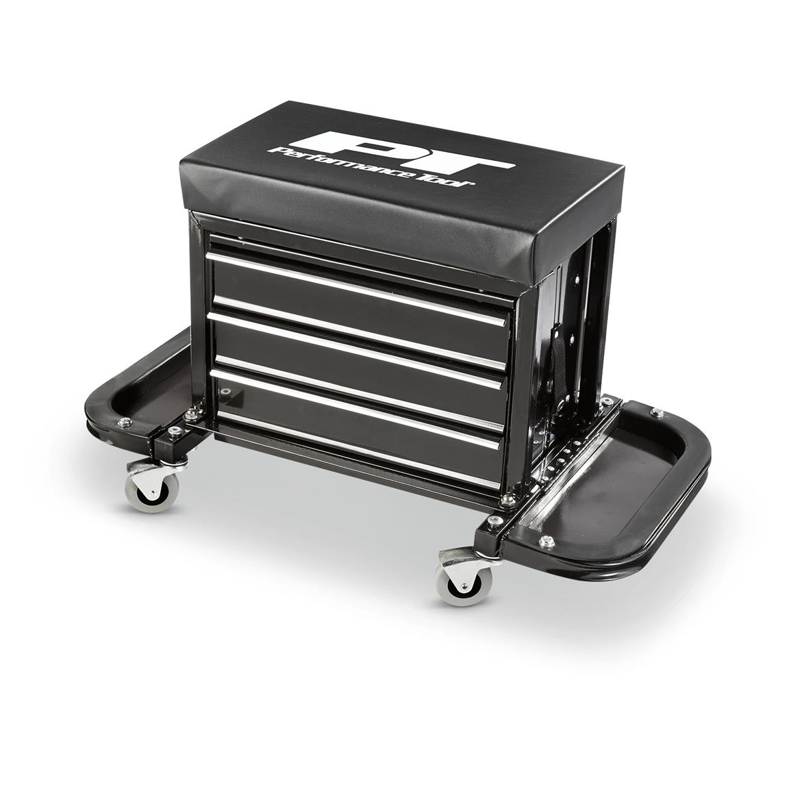 Performance Tool® Creeper Seat Tool Box