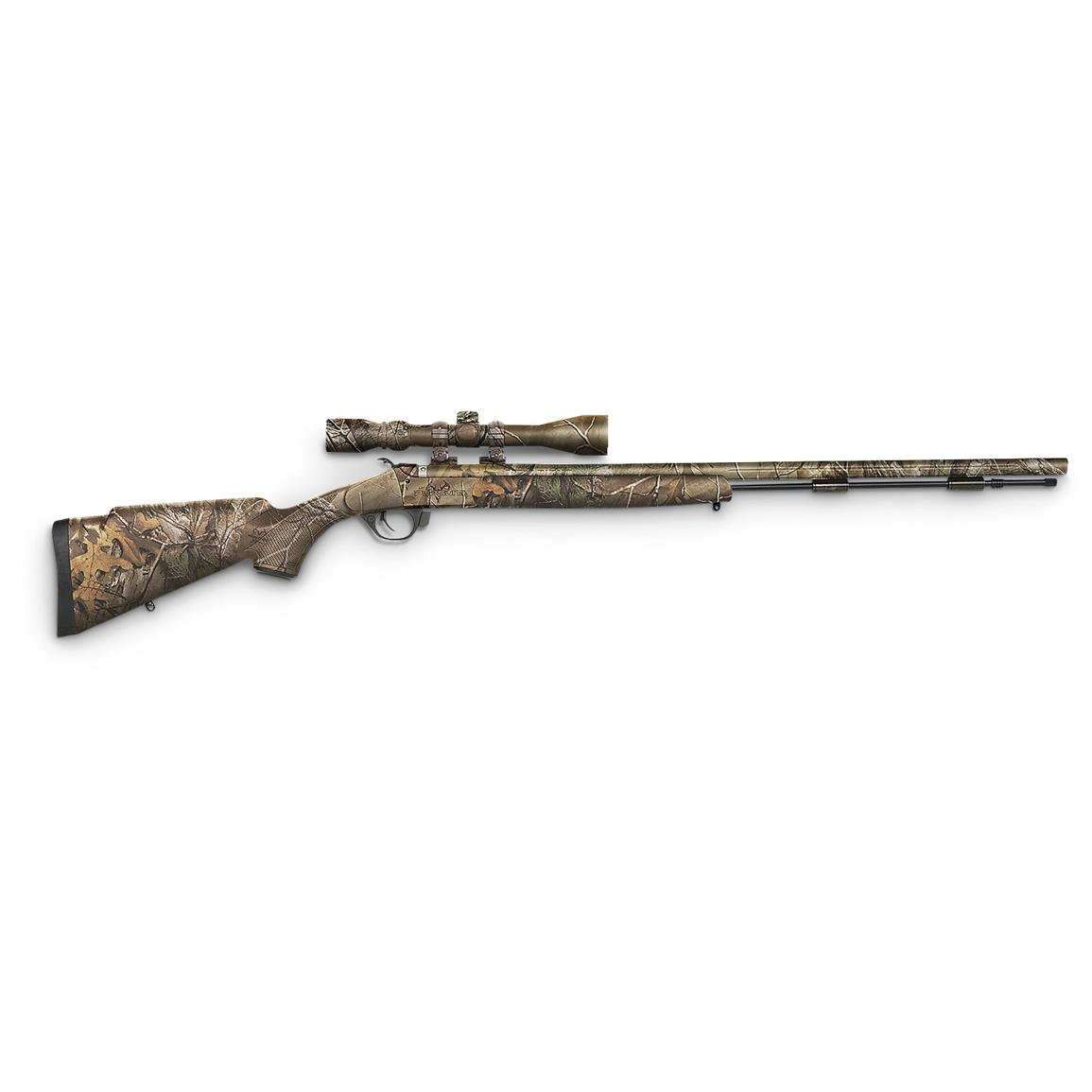Traditions Pursuit G4 Ultralight .50 Caliber Black Powder Rifle with 3-9x40mm Scope, Full Realtree Xtra Camo / Cerakote