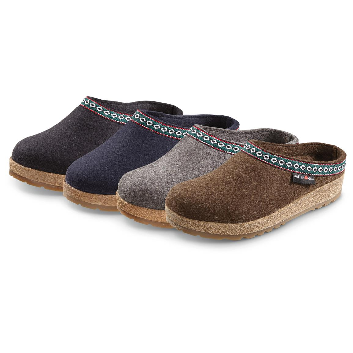 Men's and Women's Haflinger Classic Grizzly Clogs