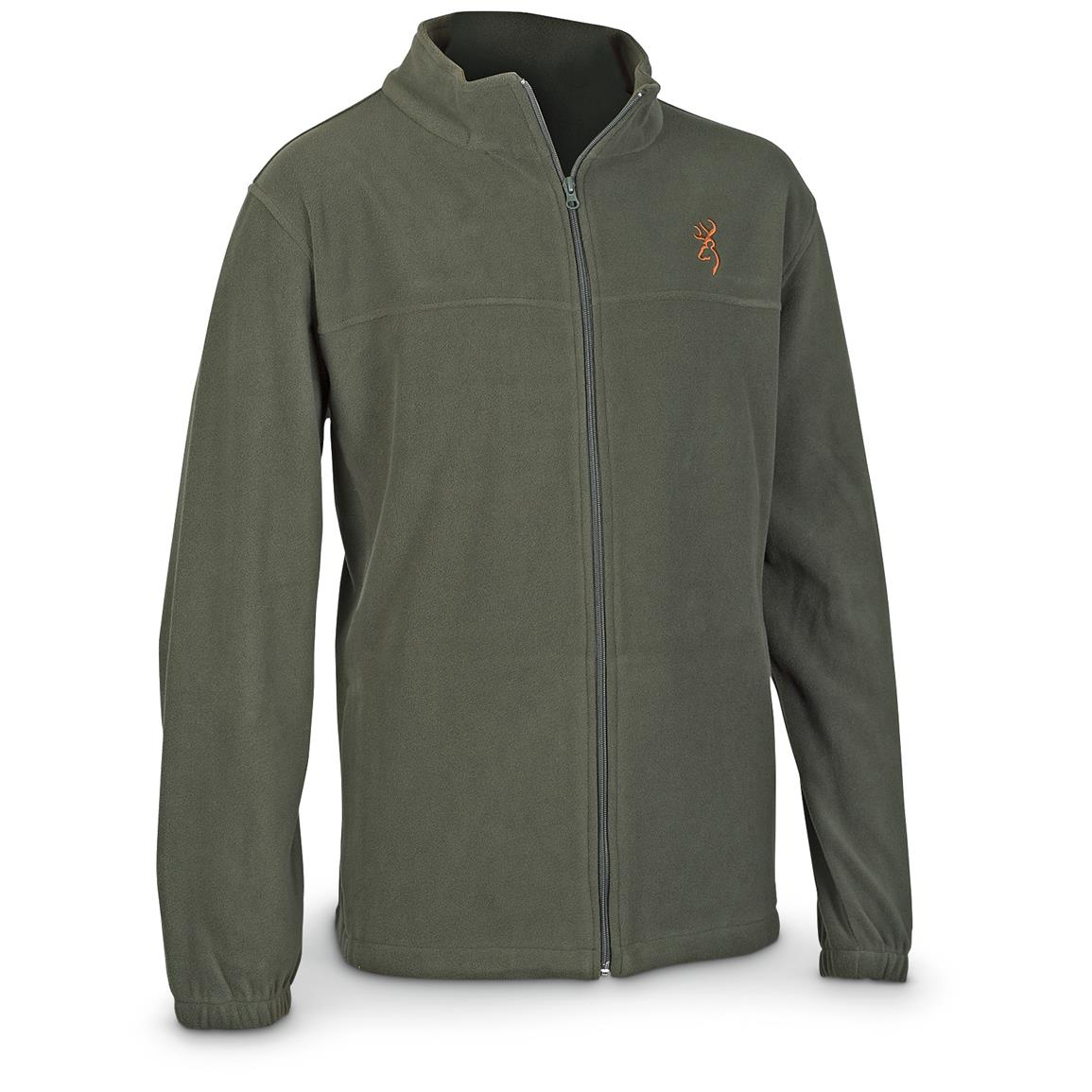 Browning Men's Fleece Full Zip Jacket, Forest Night