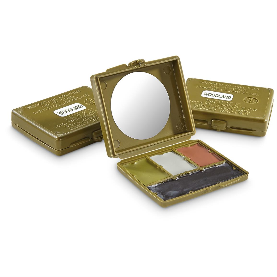 3-Pk. of New U.S. Military Issue Face Paint Kits.