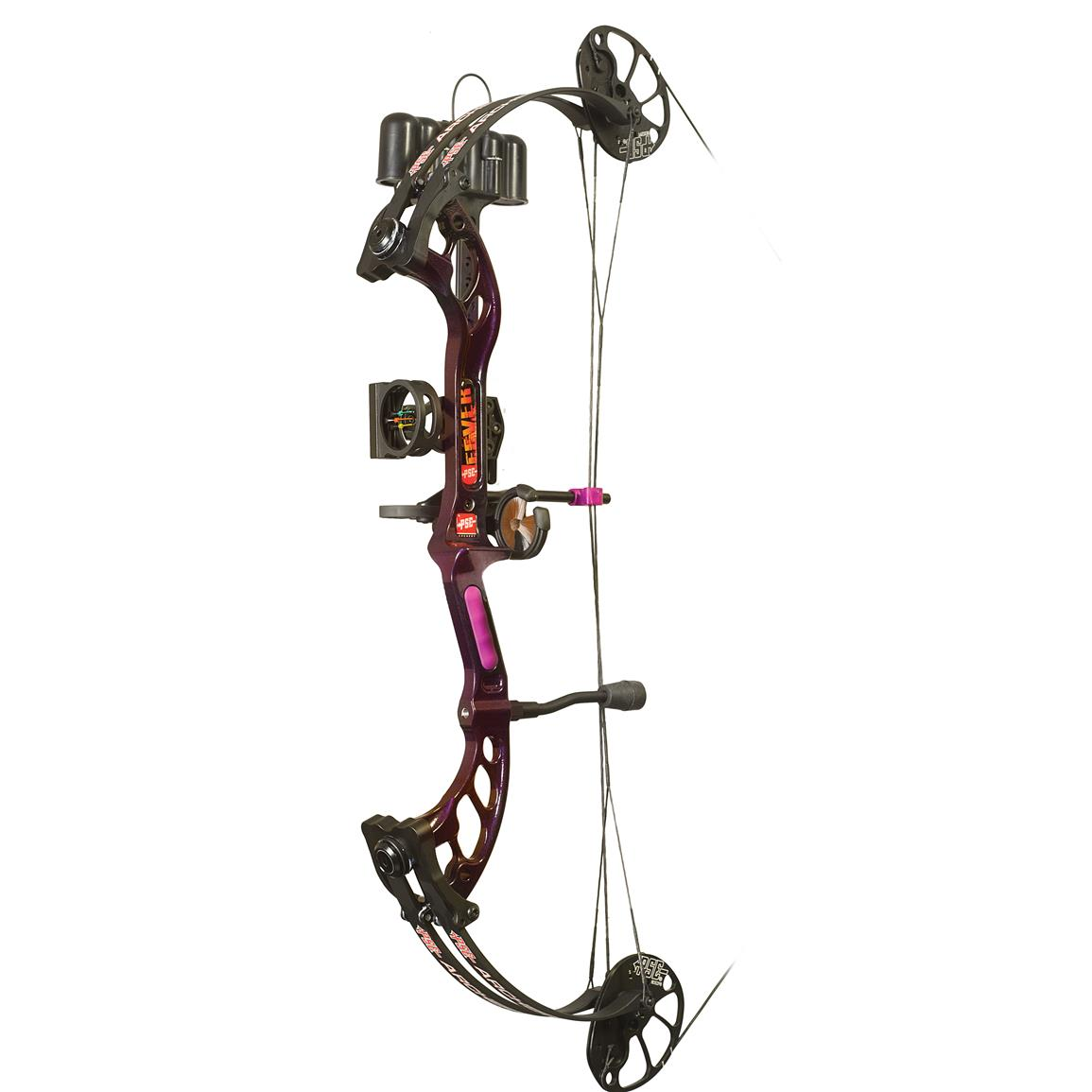 PSE Fever Youth Ready to Shoot Compound Bow, Purple Rain