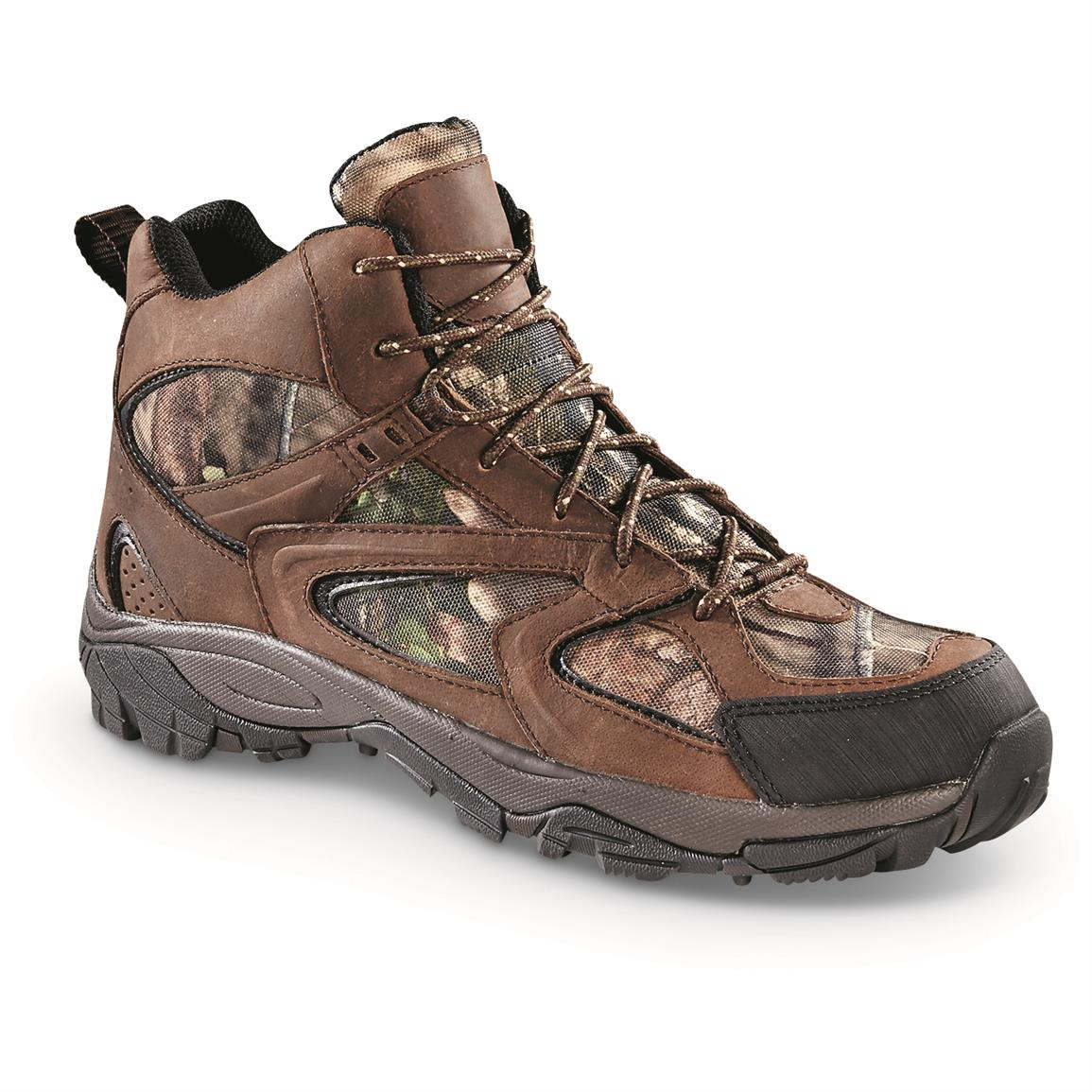 Guide Gear Men's Arrowhead Hiking Boots, Waterproof, Mossy Oak Break-Up Country