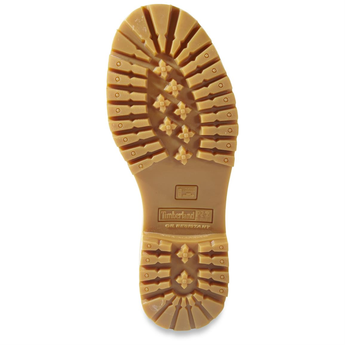 Timberland PRO oil-resistant, non-marking rubber lug outsole for top traction