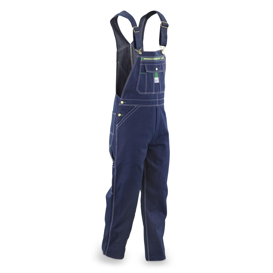 Liberty Men's Denim Bib Overalls, Slight Irregulars, Rigid Indigo