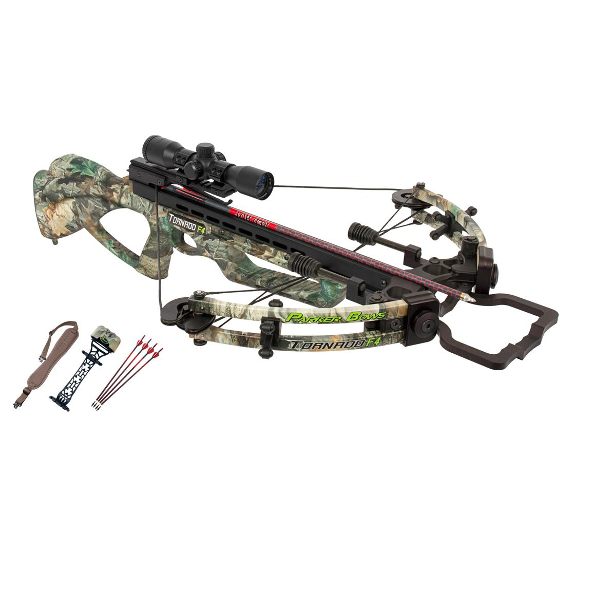 Parker Bows Tornado F4 Crossbow Package with 3X Multi-reticle Scope
