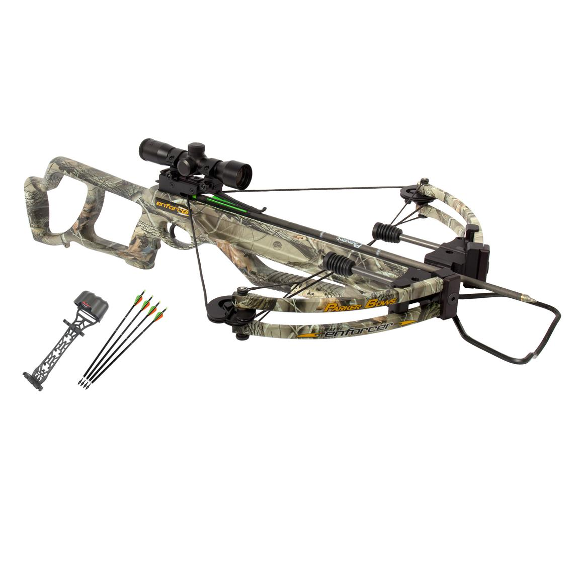 Parker Bows Enforcer Crossbow Package with 3X Illuminated Multi-reticle Scope